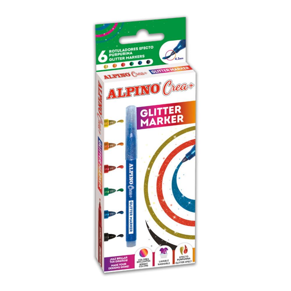 Set markere Alpino Crea+ Glitter