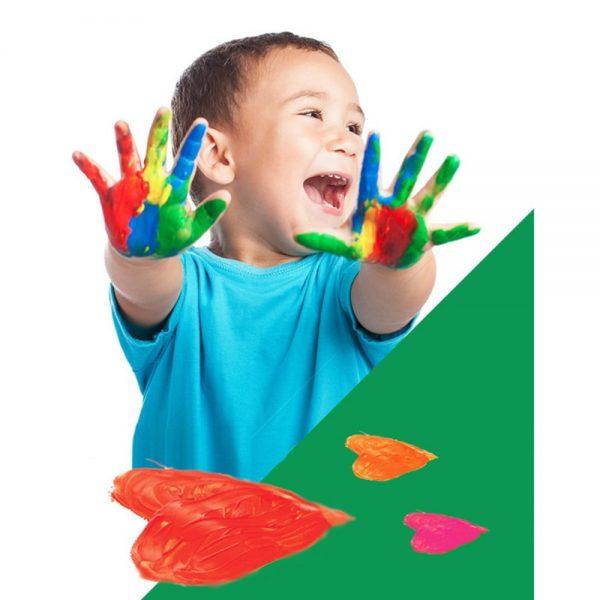 Tempera lavabila, 4 culori x 100ml/set, ALPINO Finger Paint