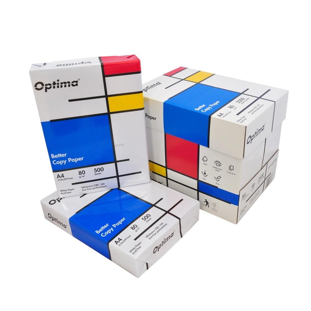 Hartie pentru copiator A4, 80g/mp, 500coli/top, Optima