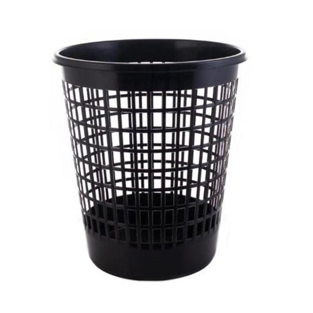 Cos plastic cu perforatii 50l, PLAFOR - negru