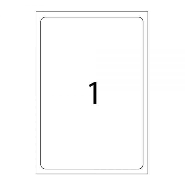 Etichete autoadezive albe, colturi drepte, 100 coli/top, A-series