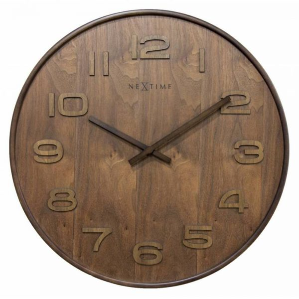 Ceas de perete NeXtime Wood Wood Medium