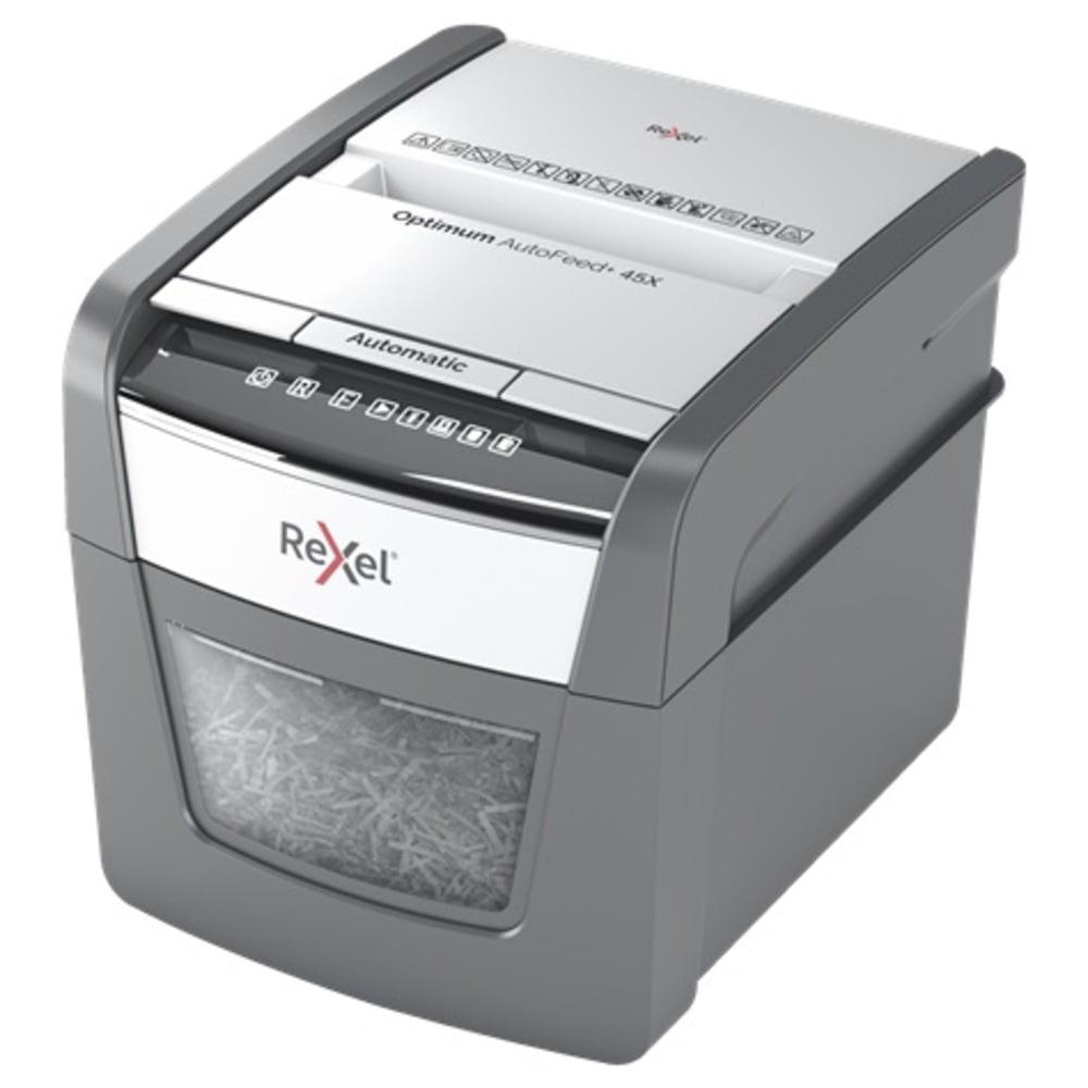 Distrugator documente automat REXEL OPTIMUM 45X, P4, cross-cut (confeti), 45 coli