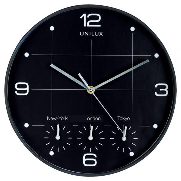 Ceas de perete UNILUX On Time - negru