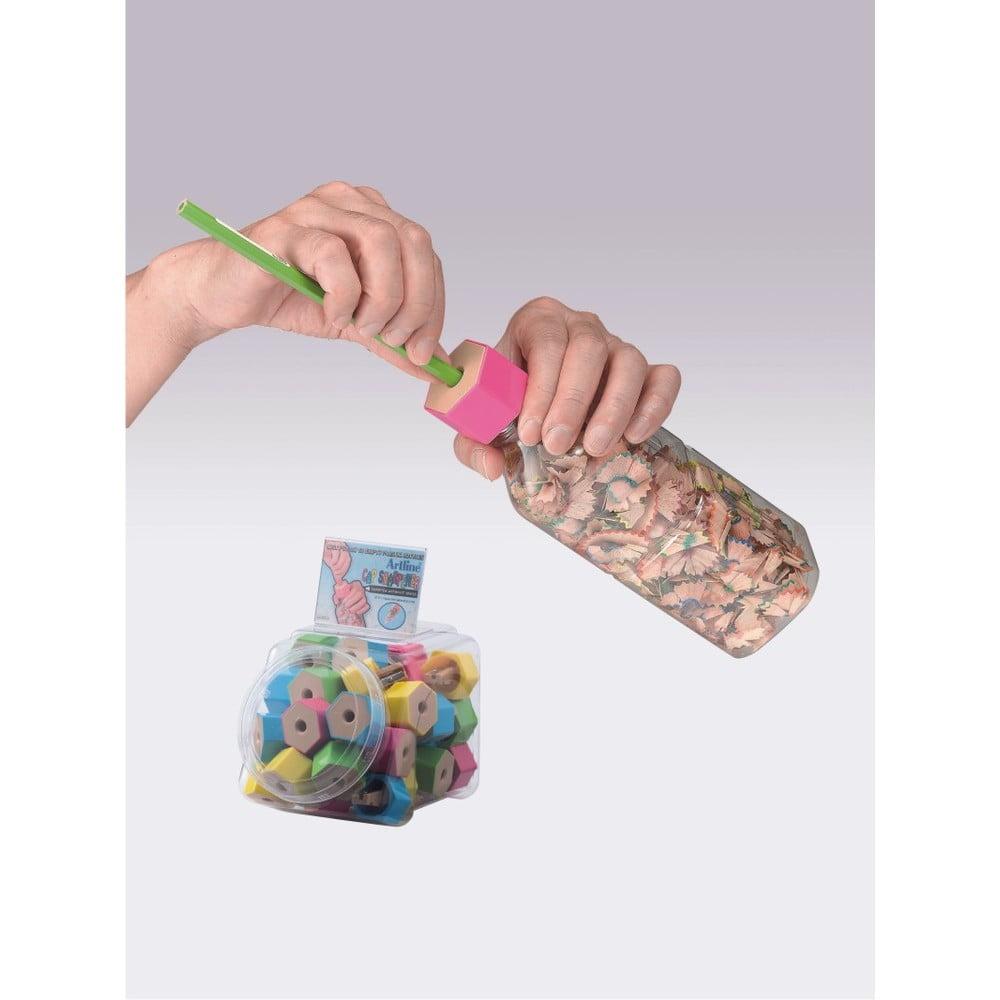 Ascutitoare ARTLINE, capac de sticla plastic - culori asortate