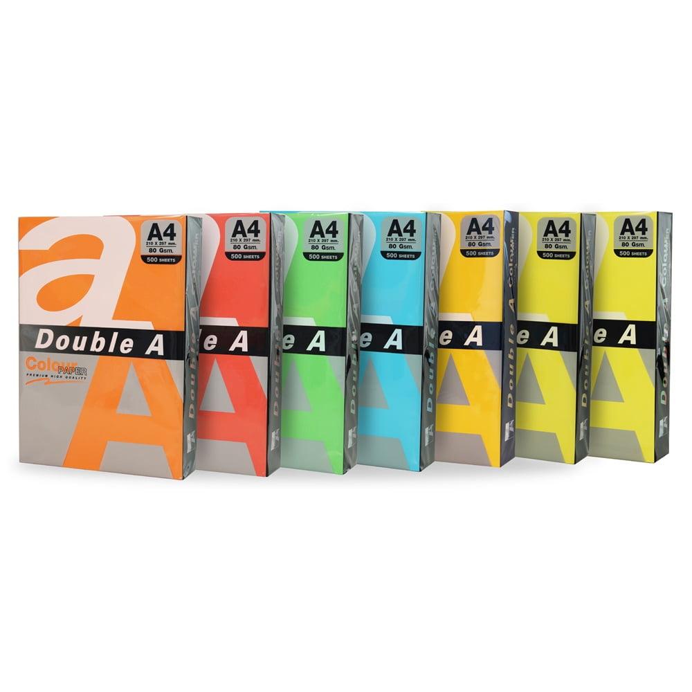 Hartie color pentru copiator A4, 80g/mp, 25coli/top, Double A - culori pastel