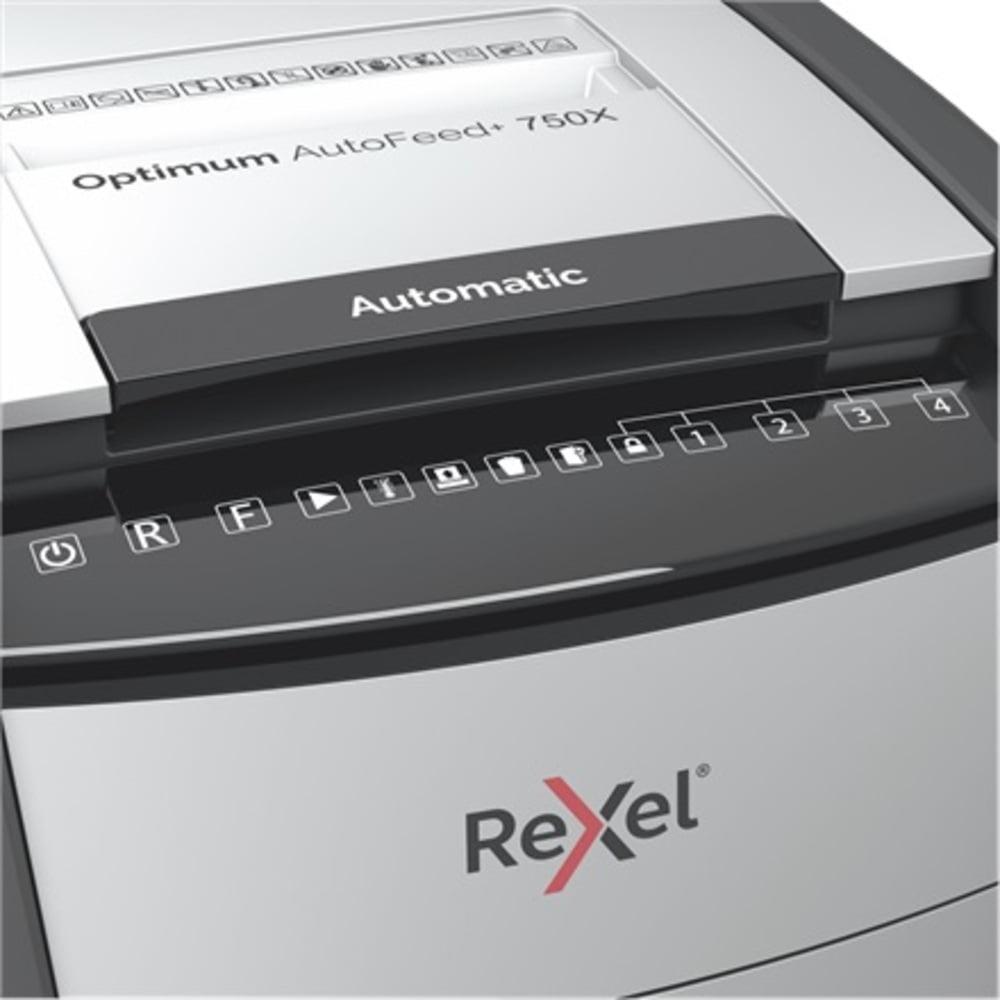 Distrugator documente automat REXEL OPTIMUM AutoFeed+ 750X