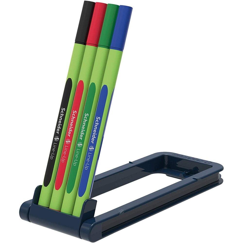 Liner 0.4mm SCHNEIDER Line-Up, varf fetru, 4 culori/set