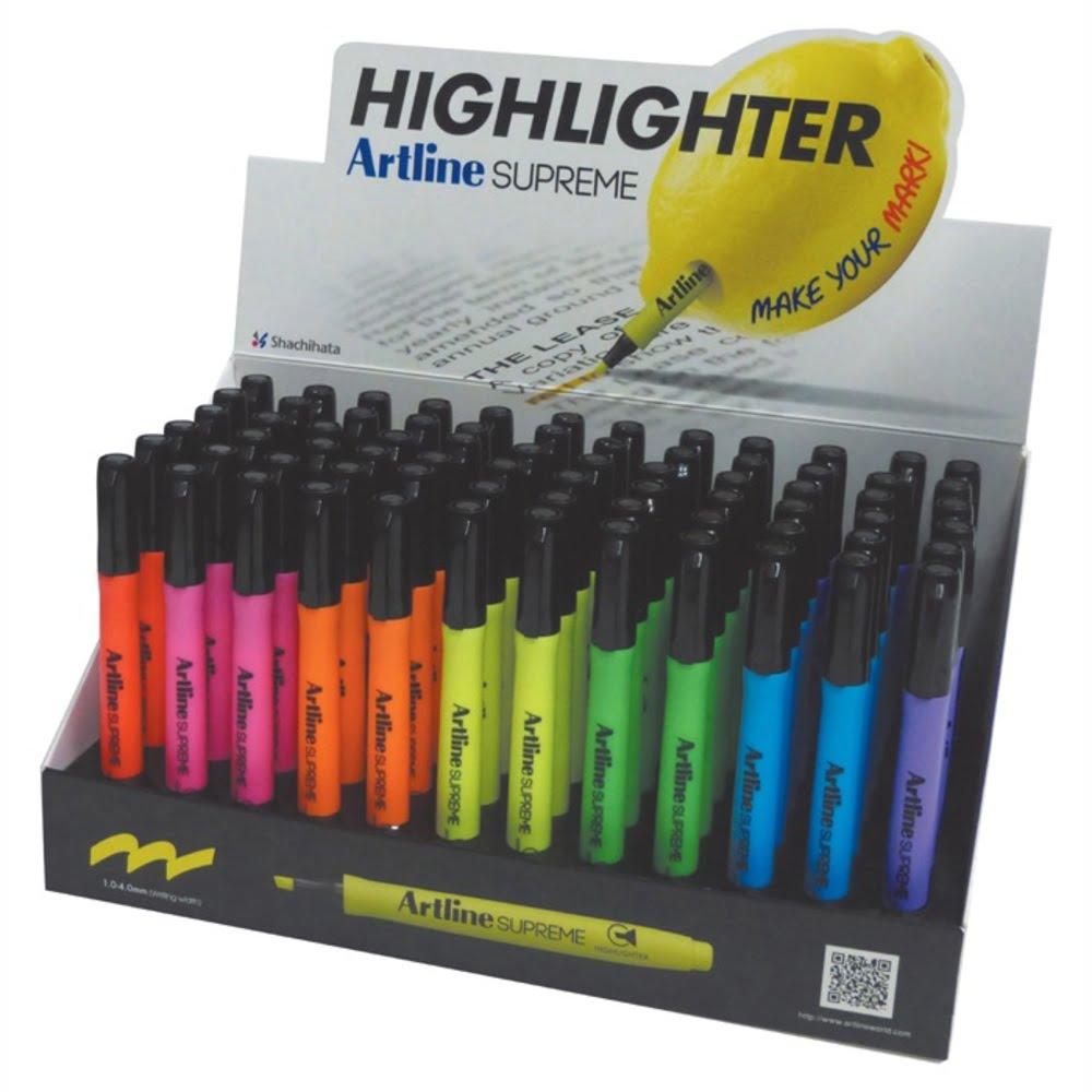 Display ARTLINE textmarker Supreme 1-4mm, 5 cul x 12 buc + 2 cul x 6 buc/display