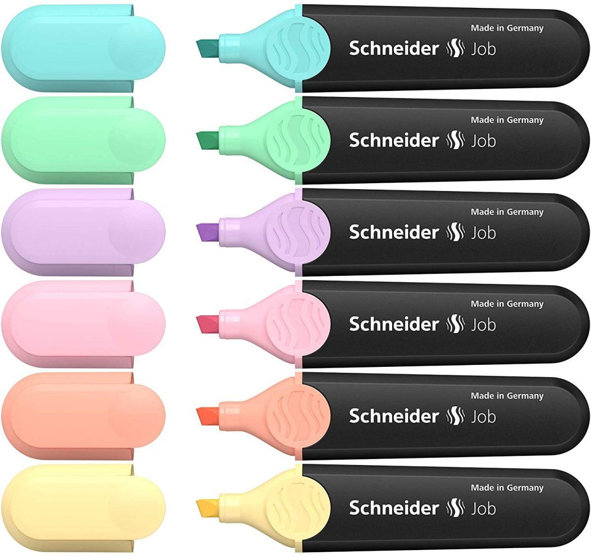 Textmarker SCHNEIDER Job Pastel, varf tesit 1+5mm